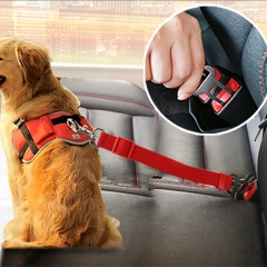 Vehicle Car Pet Dog Seat Belt Puppy Car Seatbelt Harness Lead Clip Pet Dog Supplies Safety Lever green as show