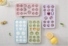 Cute Silicone Chocolate Mold Maker Ice Cube Tray Freeze Mould Bar Pudding Jelly blue as show