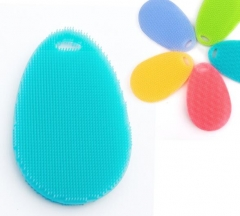 Magic Cleaning Brushes Silicone Dish Bowl Scouring Pad Pot Pan Easy to Clean Wash Cleaner Sponges orange one size