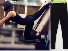 Womens Casual Comfy Gym Yoga Sports Workout Mid Waist Long Pants Activewear purple one size