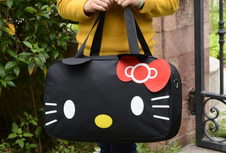0430b2967 New Hello Kitty Cute Travel Bag Woman School Bag 5Colors black free ...