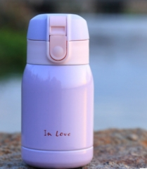 Stainless Steel Thermos  Belly Cup Thermal Bottle For Water Insulated Tumbler For Car Coffee Mug purple 200ml
