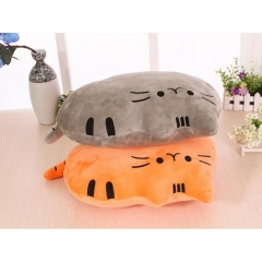 Office Worker Creative Cartoon Cat Soft Plush PP Cotton Back Pillow Bantal pink one size