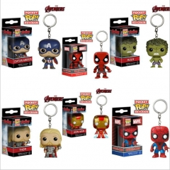 FUNKO POP Avengers Iron Man Spider-Man Thanos Hand Ornaments Model Keychain Hulk one size