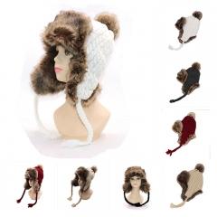 Winter Fashion Cotton Knitted Hat Charm Women Soft Beanies Caps Outdoor Sport Hats Black Uniform code