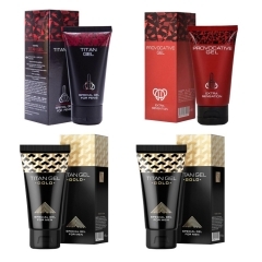 Titan Gel, Penis Enlargement Cream Xxl Imported for External Use, Thickening,sex Time Delay Black Titan one size