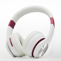 Stylish wireless Bluetooth stereo headset foldable headset headset for iPhone Samsung Android pink