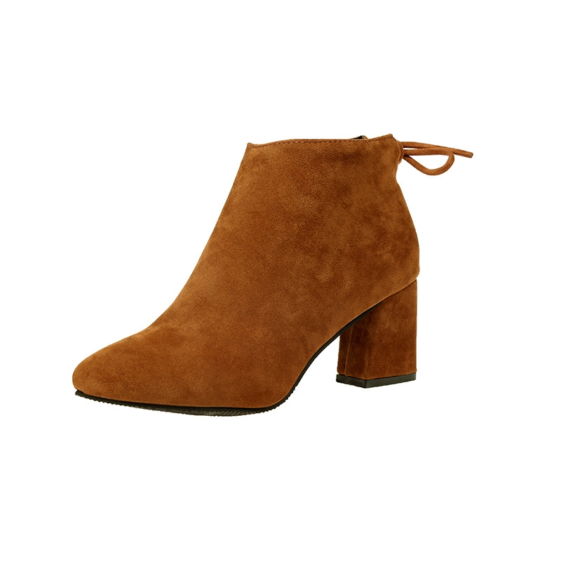 46e208495a4 AnSoph 1Pair Ankle Boots Women Ladies Pointed Heel Bootie Shoe New Elegant  Femal Fashion Shoe Camel 37
