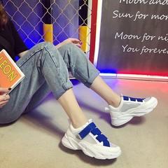 AnSoph 1 Pair Lace Up Sneaker Women Ladies Breathable Summer Casual  Shoe Fashion Sport Court Shoe blue 36