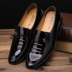 Fall Men's Black Leather Shoes Business black 38