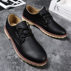 Fall 2018 Men's Leather Shoes Korean Leisure Men's Shoes Trend black 39