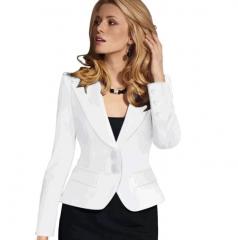 women elegant Slim mini-suit jacket work office formal tops coat plus size black 3xl