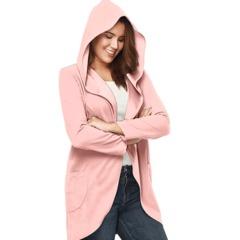 women autumn winter long sleeve coat fashion lady casual leisure holiday coat pink s