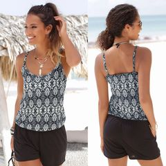 women floral print strap jumpsuit summer holiday seaside casual leiusre playsuit mul-ti s