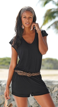 women deep v neck sleeveless jumpsuit short pant casual playsuit summer holiday leisure playsuit black s