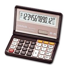 Flip-over fold calculator Solar dual power 12-digit display carry-on counting calculator