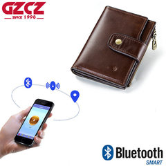 high quality men's wallet RFID leather intelligent Bluetooth anti-theft wallet mobile phone wallets brown one size