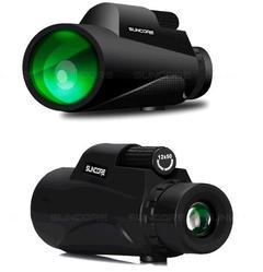 High-resolution low-light-level night vision with 12x50 single telescope