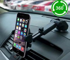 Telescopic rod bracket Vehicle sucker support seat Navigation adjusting car phone holder
