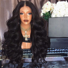 """Lace front long curly hair black fluffy deep wave ciliated hair covers wigs 14inch to 28inch black 16"""""""