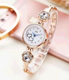 Studded Ladies Wrist Watch Lady Quartz gold