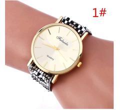 Fashion Weaving Watches Bracelet Lady Womans Wrist Watch 1