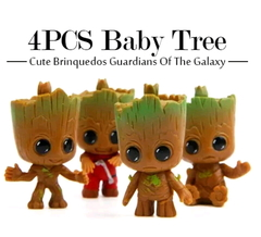 4pcs/set New Cute Brinquedos Guardians Of The Galaxy Mini Cute Tree Man Baby Tree other none
