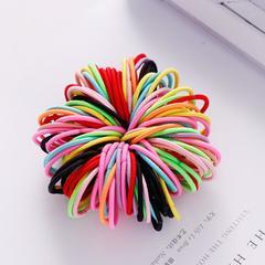 New 100PCS/Lot Girls Candy Colors Nylon 3CM Rubber Bands Children Safe Elastic Hair Bands Ponytail