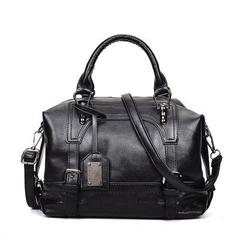 luxury fashion style Messenger bag casual shoulder bag top leather business black normal