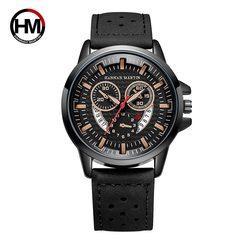 Men High Quality Style Quartz Watch black