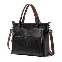 New fashion women's bags retro portable bags double simple leisure shoulder Messenger bag black normal