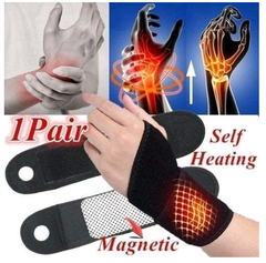 B. Tourmaline Self Heating Wrist Brace Support Strap Mangnetic Far Infrared Ray black