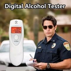 2019 Best-Selling Alcohol Analyzer Digital Breath Alcohol Tester HX-64 LCD Display Breath Analyzer white one size
