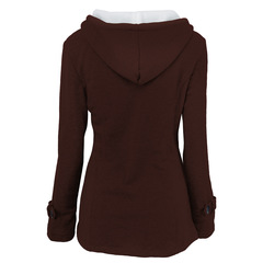 Woman Hooded Sweater for Women Outdoor Casual Cotton Blend Comfortable Keep Warm Coat Plus Size coffee s