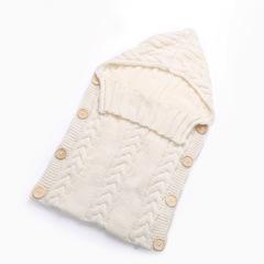 New Hot Newborn Baby Wrap Swaddle Blanket Knit Sleeping Bag Sleep Sack Stroller Winter white one size