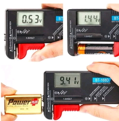 Universal Battery Tester Battery Checker for AA/AAA/C/D/9V Button Battery Capacity Tester