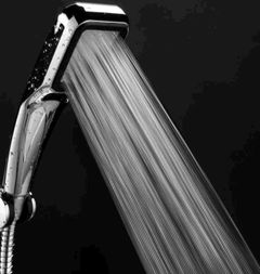 300 hole Pressurized Water Saving Shower Head Plated Bathroom Hand Shower Water Showerhead silver one size