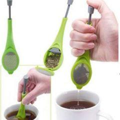 Tea Strainer Filter Flavor Tools Swirl Steep Stir Press Healthy Herb Tea&Coffee Accessories Gadget green one size