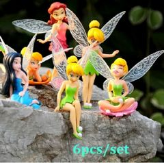 6pcs/set Flower Fairy Doll Decoration Children Doll Toy Gift multi one size