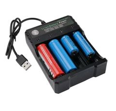 5V 1-2A Smart LCD USB Battery Charger for Lithium Battery 3.7V 4 Slots