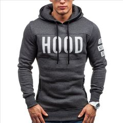 Men's Long Sleeved Sweater Fleece Printing Hoodie Top Hooded Sweatshirt Pullover Coat Casual Blouse blue 3xl