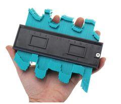 Professional Wood Measure Ruler Laminate Tool 5 Inch Plastic Profile Copy Gauge Standard Pipe green normal