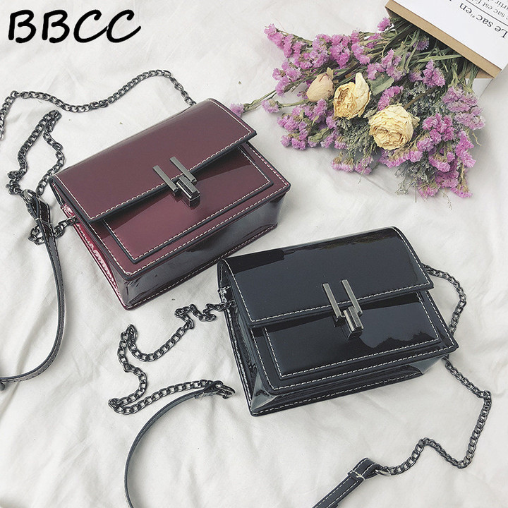 Limited low price handbags for woman ins collision Fashion Metal chain Bag Lady red fashion bags