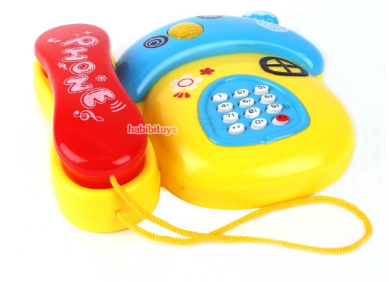 Fancy toy/phone Infants and young children the mushroom music cartoon telephones randomly As shown in figure
