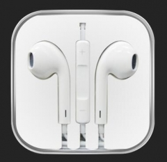 In-ear headphones with microphone stereo headphones iPhone Android GM white