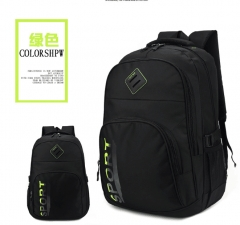 Leisure sports bag new backpack backpack large capacity outdoor travel green As is shown in