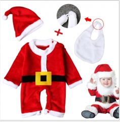 The new winter Infants and young children cute little Santa costumes red 80cm
