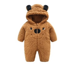 Infants and young children to keep warm winter clothes brown 70 cm