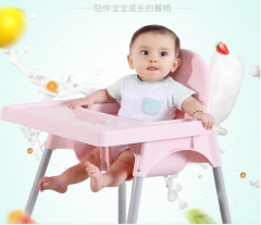 Infants and young children eat desk and chair Baby high chair for dinner pink as shown in figure