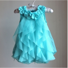 Children's new baby chiffon skirt in summer blue 9M